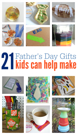 21 Father's Day Gifts {kids can help make}