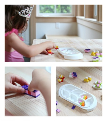 lego challenge for preschool see and build