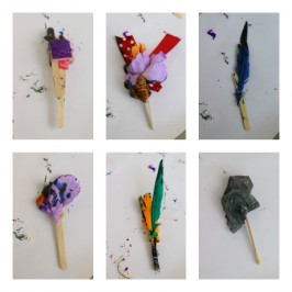 make your own homemade paintbrushes