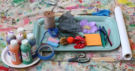 make your own paintbrush art idea for kids