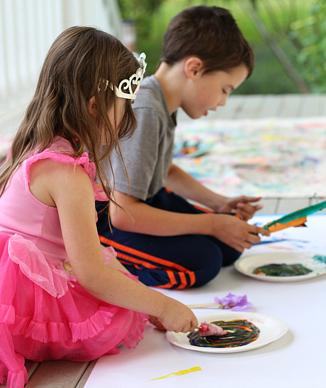 make your own paintbrushes for children