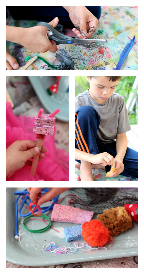 make your own paintbrushes with craft supplies
