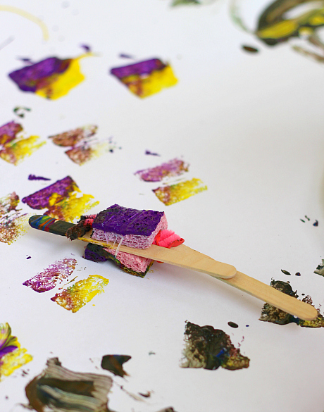painting activities make your own paintbrush