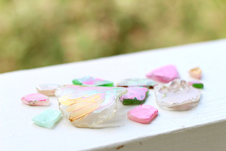 painting sea glass fine motor art idea