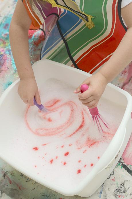 princess pink bubble bin sensory soap play