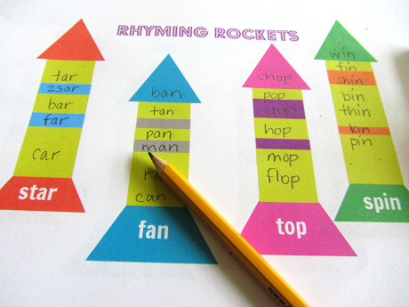 photograph relating to Rhyming Flash Cards Printable named Rhyming Rockets Totally free Printable - No Season For Flash Playing cards