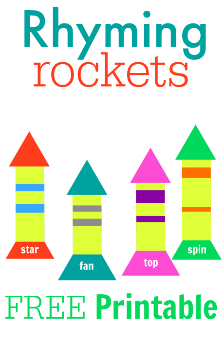 graphic regarding Rocket Printable named Rhyming Rockets Absolutely free Printable - No Season For Flash Playing cards