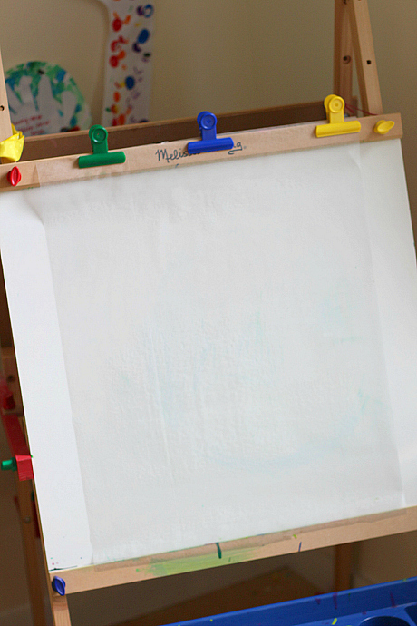 How To Make An Easel From Paint Sticks