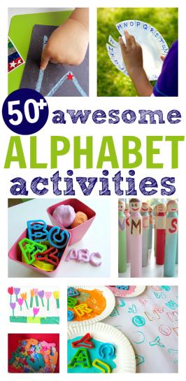 50+ Alphabet Activities For Kids