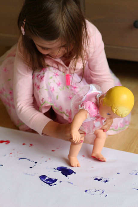 baby doll painting for toddlers