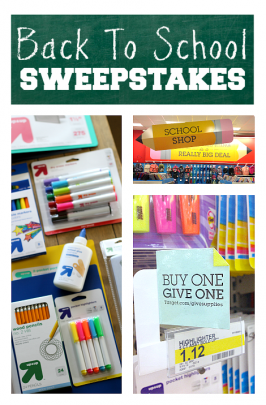 Back To School with Target {sweepstakes}