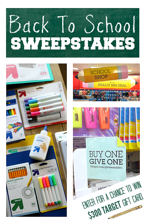 back to school sweepstakes with target