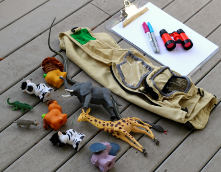 backyard safari supplies