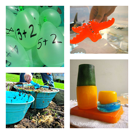 daycare water senosry activities