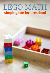 'lego math roll and build game' from the web at 'https://www.notimeforflashcards.com/wp-content/uploads/2014/07/lego-math-roll-and-build-game--204x296.png'