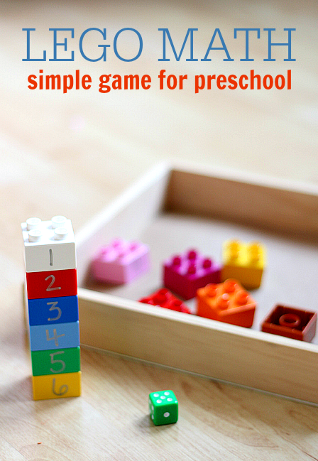 lego math roll and build game