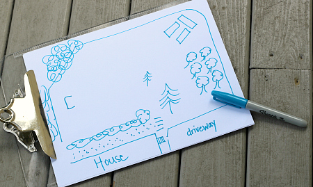 map activity for kids backyard safari