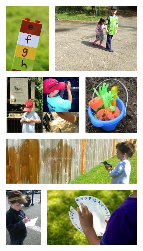 outside alphabet activities