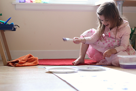 painting with dolls extention activity