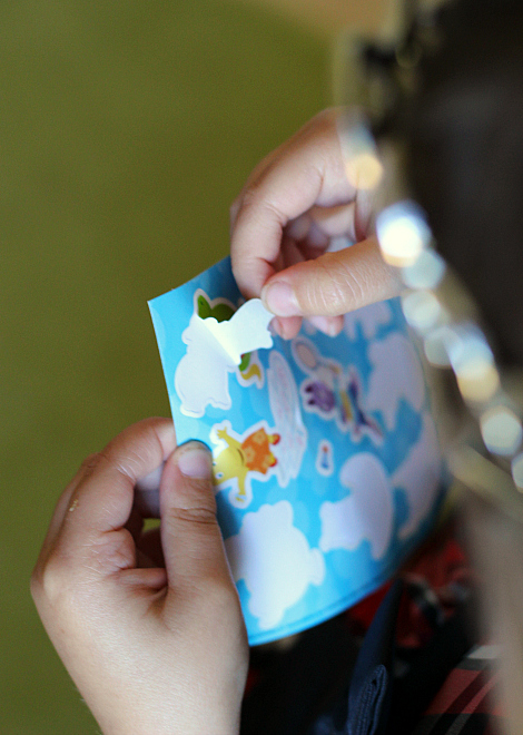 peeling stickers good for fine motor