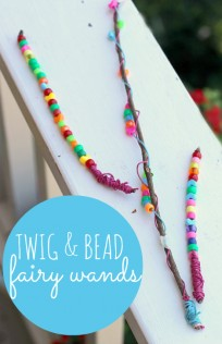 twig and bead fairy wand craft for kids