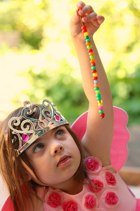 twig and bead fairy wand fine motor craft for kids