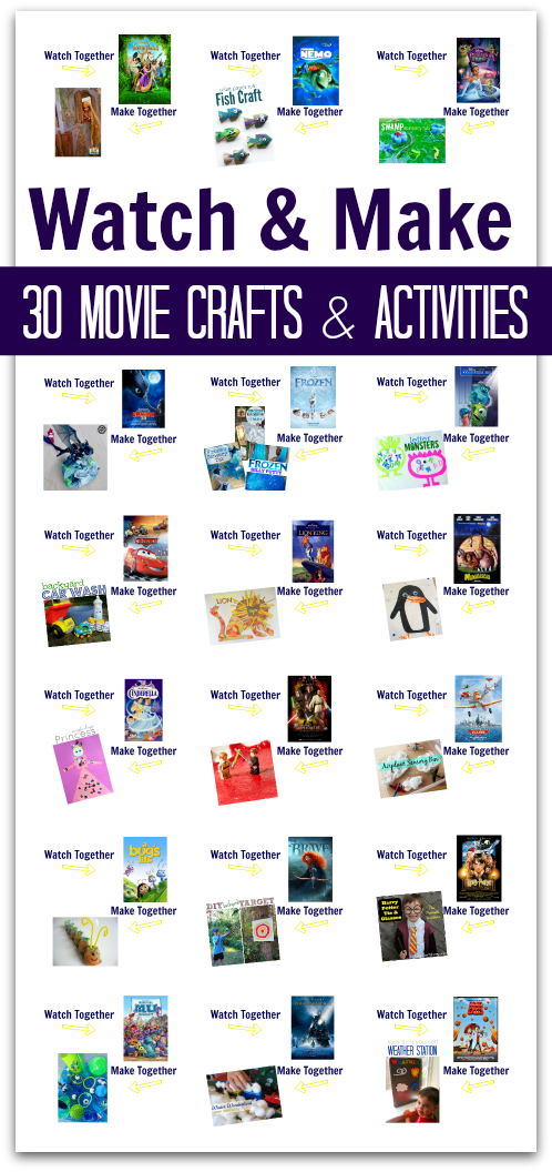 watch and make movie crafts for kids