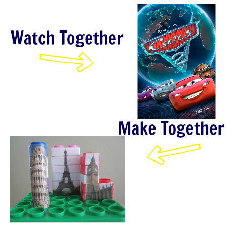 watch & make cars 2 craft idea