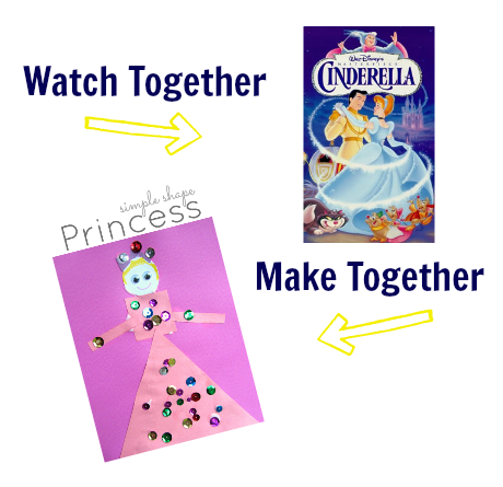 watch & make cinderella craft