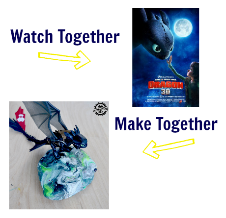 watch & make how to train a dragon craft