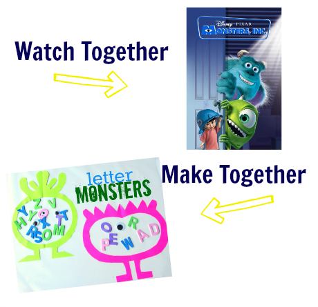 watch & make monsters inc craft for kids