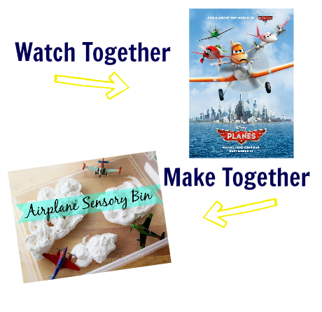 watch & make planes movie activity