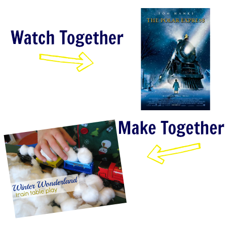 watch & make polar express party idea