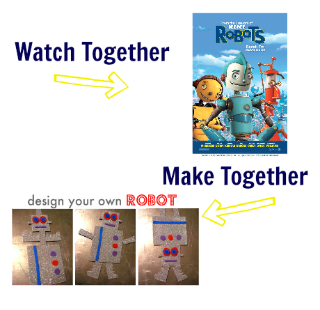 watch & make robots movie craft