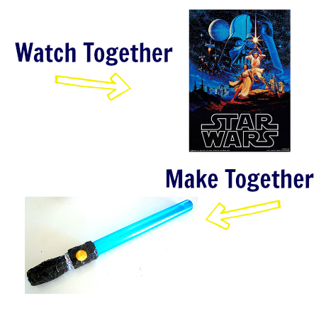watch & make star wars craft for kids