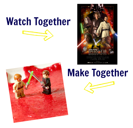 watch & make star wars sensory