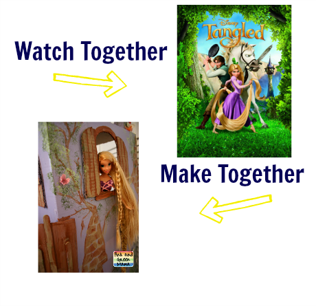 watch & make tangled craft