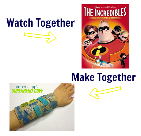 watch & make the incredibles superhero craft