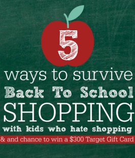 5 Ways To Survive Back To School Shopping with Target {Sweepstakes!}