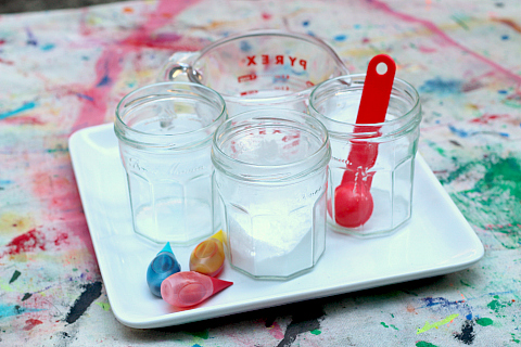 color mixing with baking soda and vinegar science