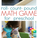 Roll & Pound Math Game For Preschool