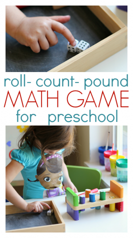 dice math game preK