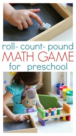 Roll & Pound Math Game For Preschool