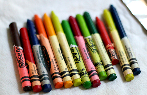 hot rocks crayon art