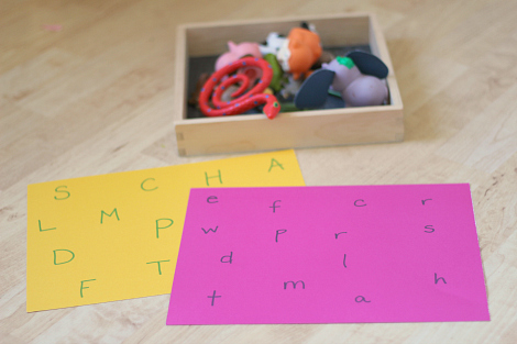letter sound match with toys
