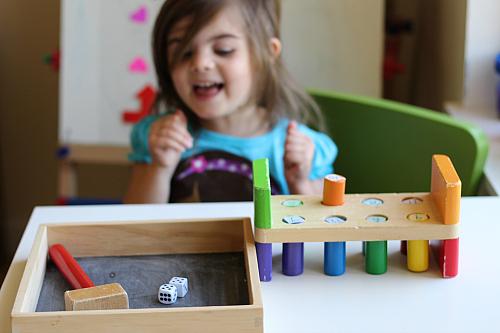 math game for preschool math roll count