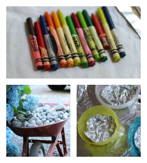 crayon melting art