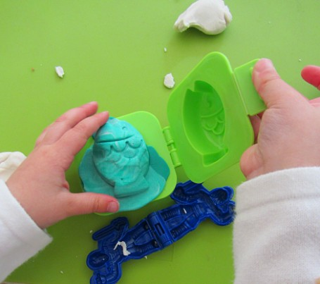 playdough egg mold