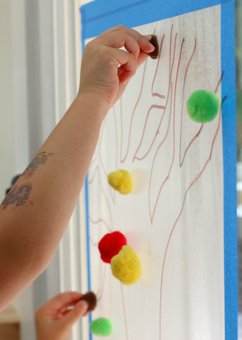 pom pom fall tree for preschool