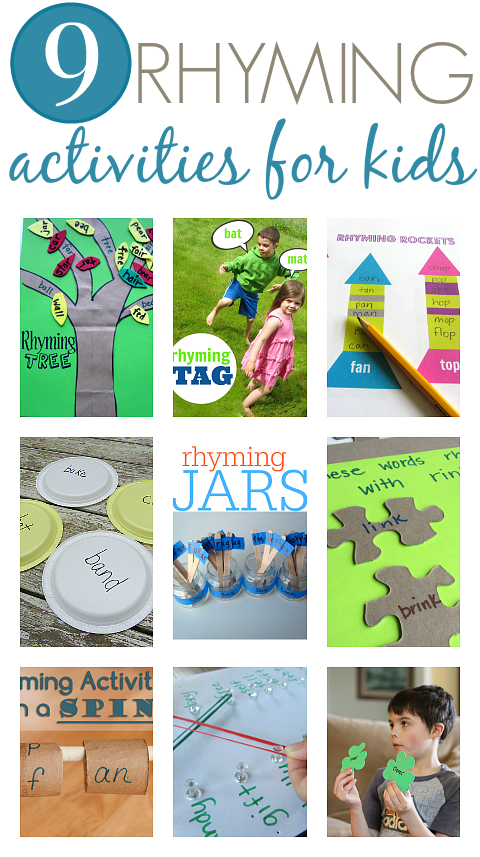 Rhyming Activities For Kids - No Time For Flash Cards